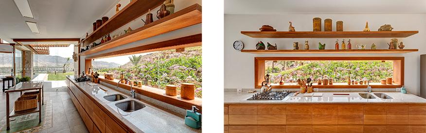 Cocina de madera y piedra de Casa en Azpitia