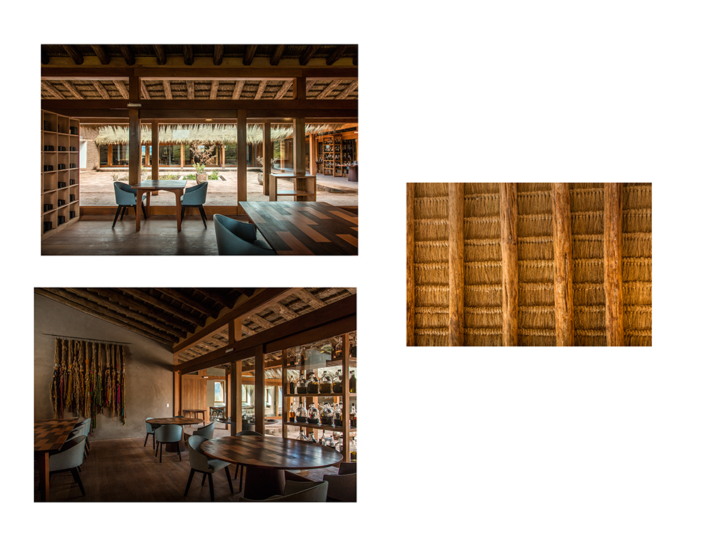 Detalles del diseño interior de restaurante Mil Centro en Cusco.