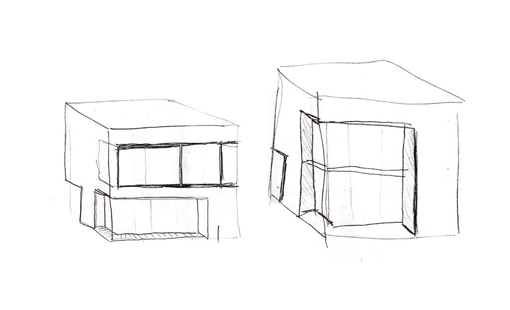 Work in progress. Boceto de Casa en Azpitia. Azpitia house sketch.