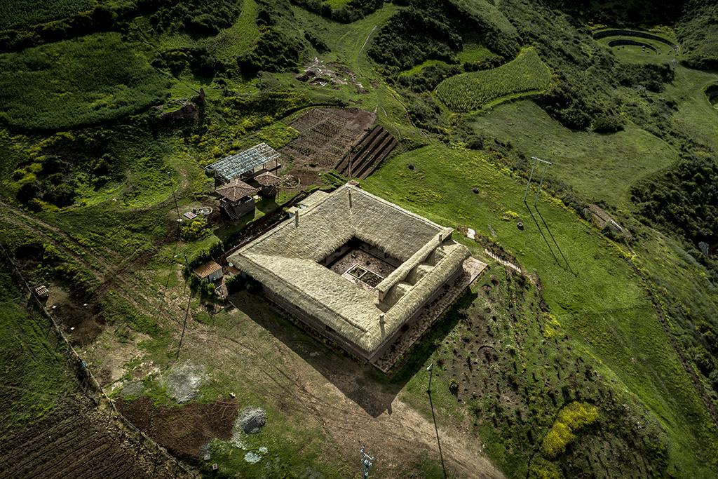 Vista aérea de restaurante Mil Centro en Cusco.